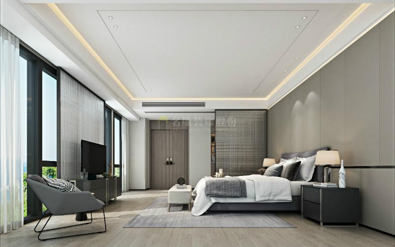 现代装修风格卧室效果图