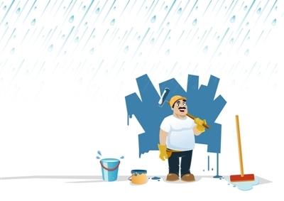 下雨天装修图