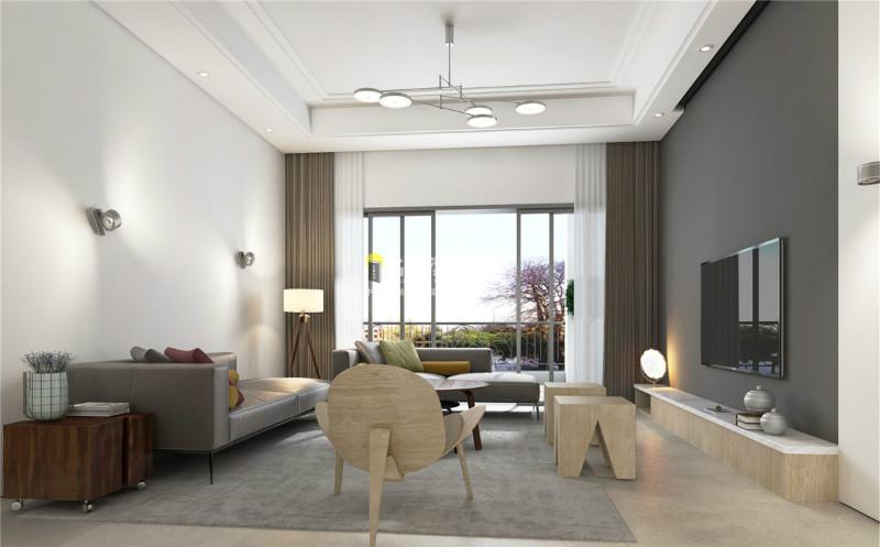 家装公司现代客厅效果图