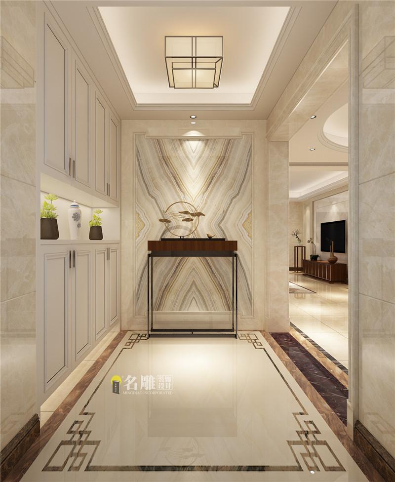 公众认可的广州装修公司前三名:名雕装饰玄关装修效果图